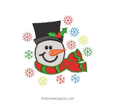 Snowman with colored star