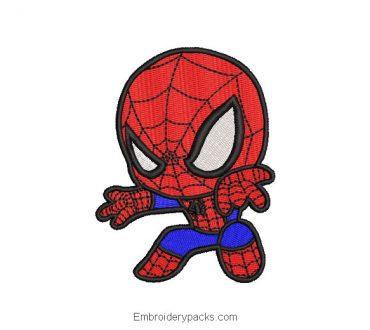 Spider-Man Spider-Man Superhero Embroidered Design