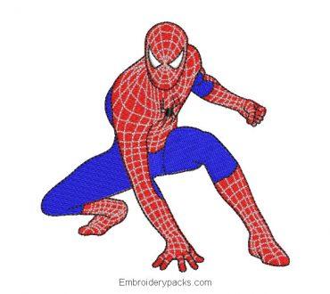 Spider man spiderman machine embroidery design