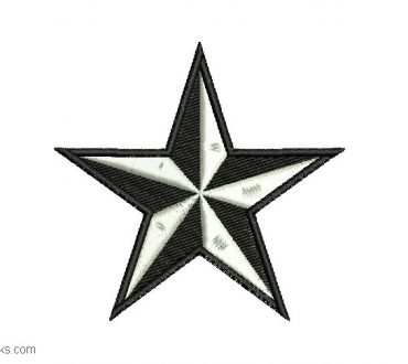 Star Embroidery Design for Free Border