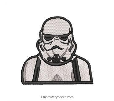 Star Wars White Soldier Embroidered Design