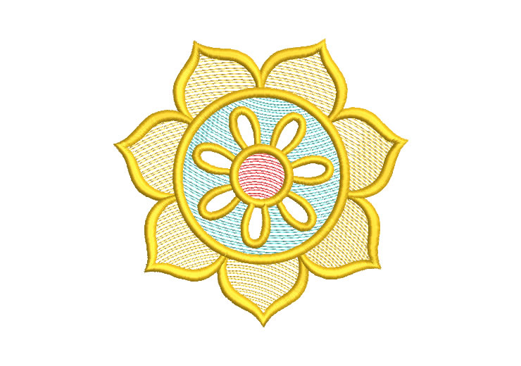 Sunflower Flowers Embroidery Design