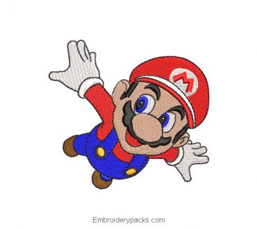 Super Mario Bros Embroidered Design for Machine