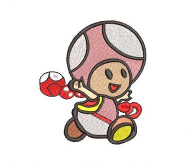 Super Mario Bros Toad Embroidery Design