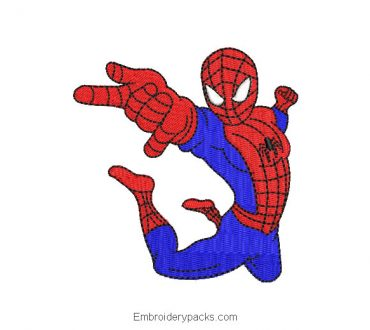 Super heroes spider man spiderman embroidery design