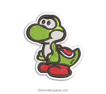 Super mario yoshi machine embroidery design