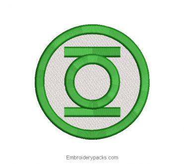 Superhero Green Lantern Embroidered Design