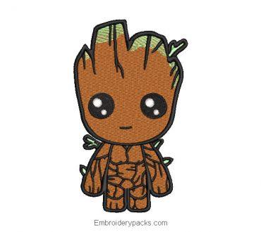 Superhero Groot Machine Embroidery Design