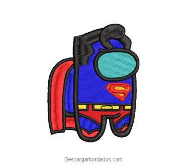 Superman Superhero Among Us Embroidered Design