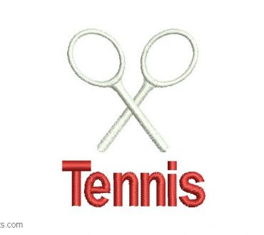 Embroidered Tennis Design for Embroidery