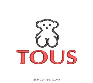 Tous Logo Embroidered Design with Letter
