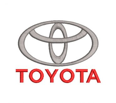 Toyota Logo Embroidery Designs