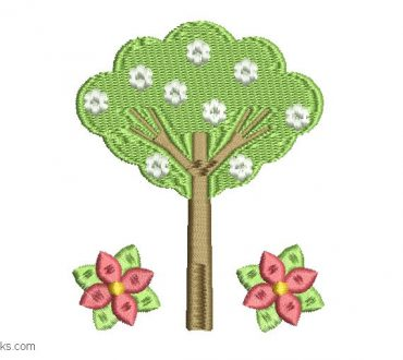 Tree Embroidery 1