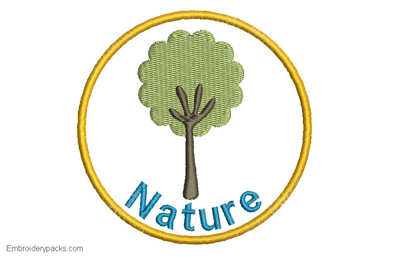 Tree Embroidery with Personalized Name