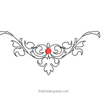 TribTribal flower machine embroidery designal flower machine embroidery design