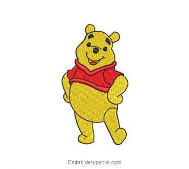 Winnie the pooh machine embroidery design