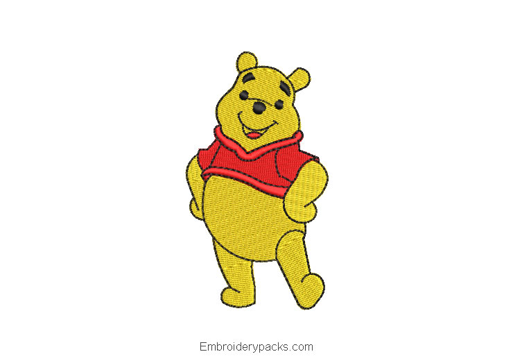 Winnie the pooh machine embroidery design