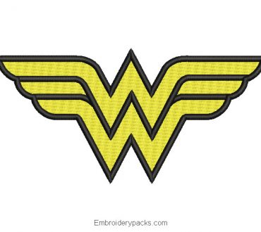 Wondaer Woman logo embroidery design Wonder Woman